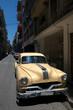 Yellow taxi in Old Havana