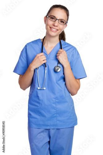 Fotografia  Isolated Nurse