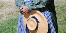 Pioneer Woman Reenactor Standi...