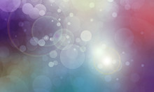 Colorful Bokeh Background With...