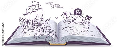 Fotografie, Obraz  Open book Adventure