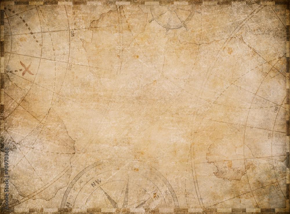 Fototapeta old nautical map background