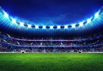 Fototapeta nowoczesny stadion piłkarski