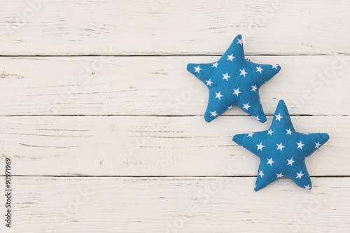 Fotografía  Baby Karte Babyparty Blau Sterne