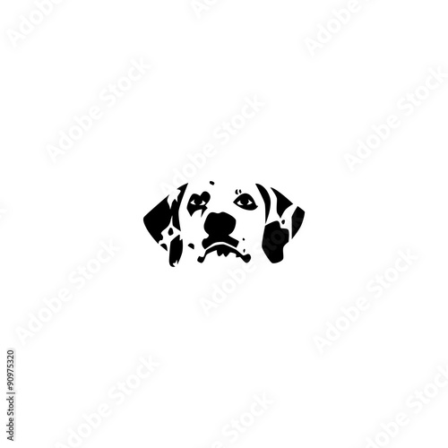 Dog Face Silhouette Vector Template - Buy this stock vector