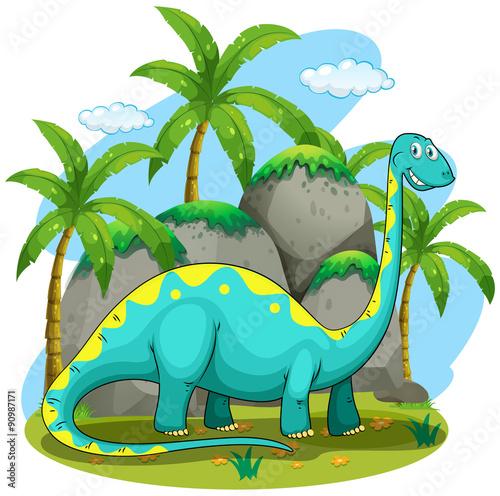 dluga-szyja-dinozaurow-stojacych-w-polu