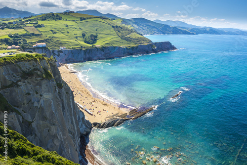 Cadres-photo bureau Cote Cliffs of Zumaia, Basque Country (Spain)