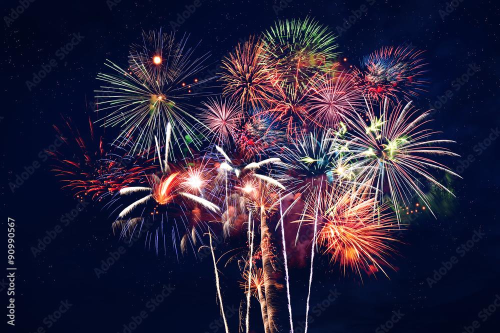 Fototapeta Fireworks at Night