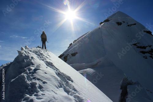 In de dag Alpinisme climbing mountains