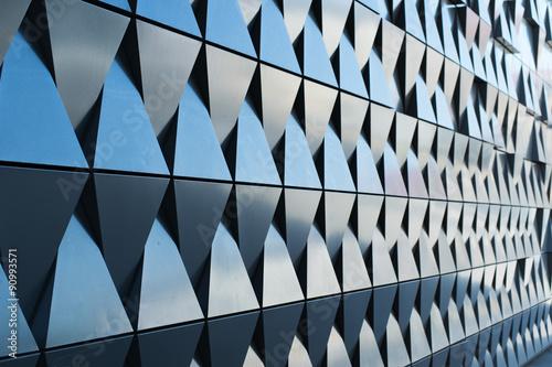 Fototapeta triangular shaped wall design texture obraz