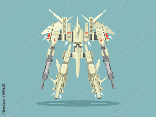 Military robot transformer Wallpaper Mural