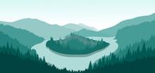 Beautiful Mountain Landscape W...