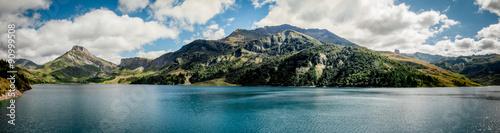 Deurstickers Dam Barrage de Roselend en Savoie