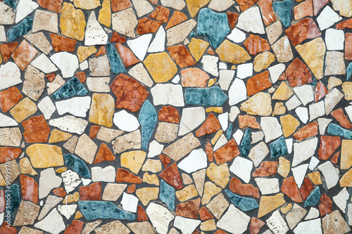 Colorful stone mosaic, background photo texture
