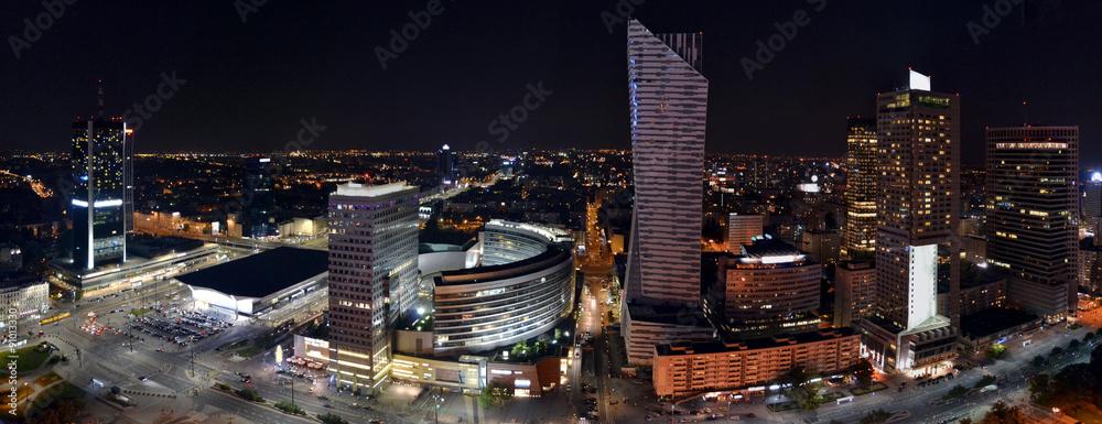 Fototapety, obrazy: Warsaw by night