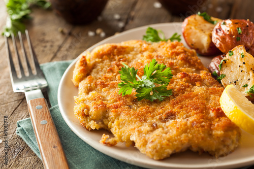 Homemade Breaded German Weiner Schnitzel - 91013778