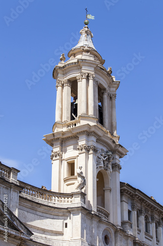 Garden Poster South Africa ROME, ITALY, on AUGUST 25, 2015. Sant'-Agnese-in-Agone (ital. S. Agnese in Agone, armor. Sanctae Agnetis in Agone) - titular church on Navon Square. Architectural details