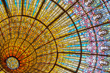 Stained Glass Ceiling Of Palac...