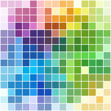 Colorful Square Mosaic With White Borders (background Or Pattern)