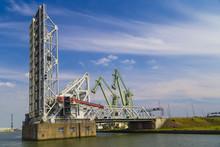 Drawbridges In Port Of Antwerp