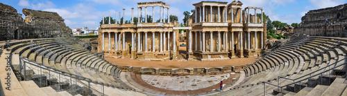 Panorámica del teatro romano de Mérida, Badajoz, Extremadura, España