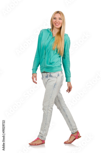 01c2332bb83 Pretty woman wearing casual style isolated on white - Buy this stock ...