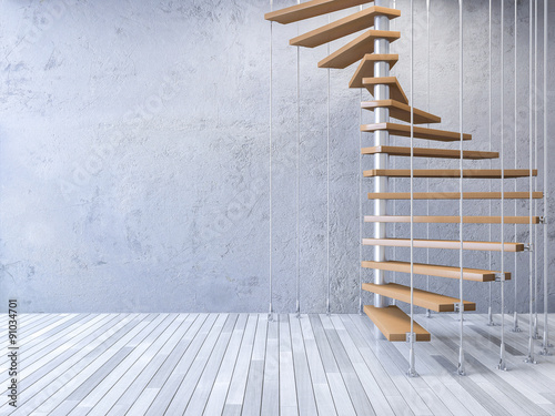 Valokuva  3d staircase hanged by cables