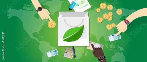 Fotografía  bag shopping guilt free green friendly consumption buy eco