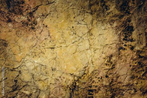 Foto auf AluDibond Alte schmutzig texturierte wand Close up texture of grunge cracked old stone wall.For art textur