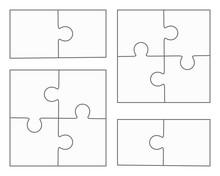 Jigsaw Puzzle Blank Vector, Fo...