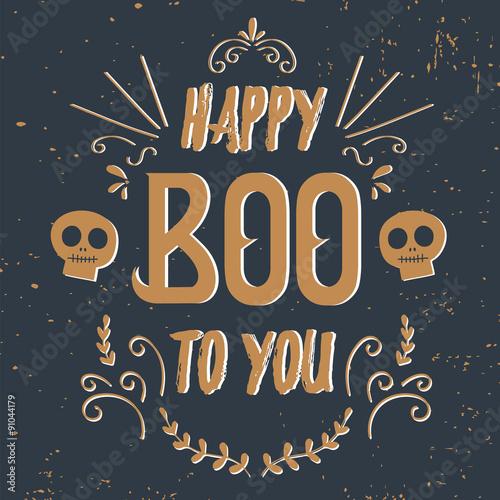 Fényképezés  Happy Halloween Poster. Vector illustration.