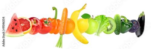 Poster Légumes frais Fresh color fruits and vegetables