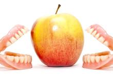 Two False Teeth And An Apple