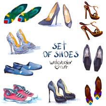 Watercolor Set Shoes