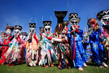 Colorful Thai Festival - Phi Ta Khon, A Type Of Masked Processio