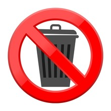 Don`t Throw Trash, Recycle Bin...
