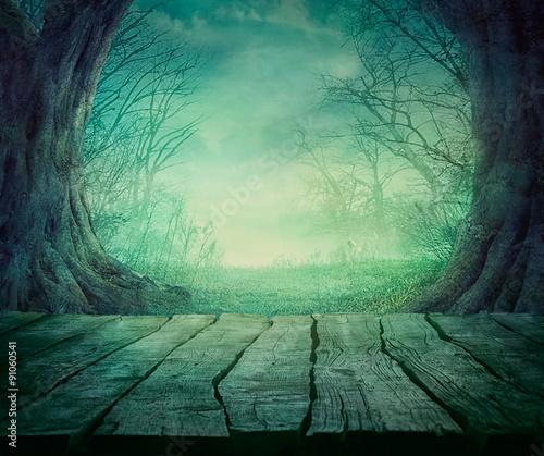 Halloween Spooky Forest Fotobehang