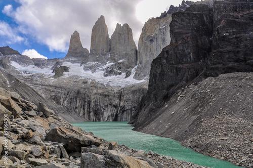 Fotografie, Obraz  The Towers, Torres del Paine National Park, Chile