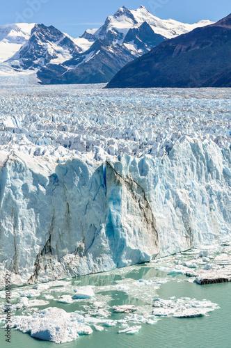 Poster Glaciers Icy landscape, Perito Moreno Glacier, Argentina