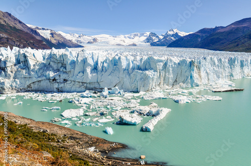 Photo sur Toile Glaciers Panoramic view, Perito Moreno Glacier, Argentina