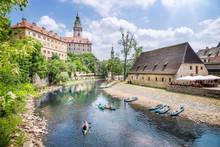Cesky Krumlov With Moldau River, Bohemia, Czech Republic