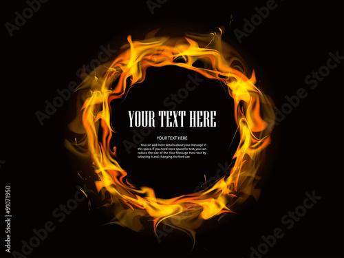 Fotografie, Obraz fire background vector