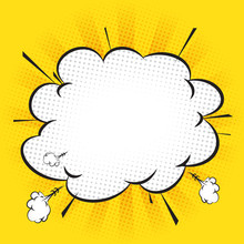 Comic Explosion Vector With Yellow Background