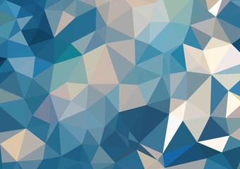 Blue Water Polygonal Mosaic Background