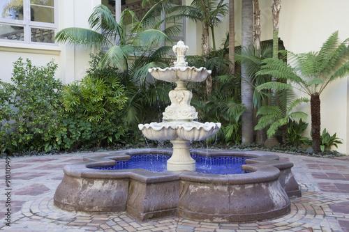 Autocollant pour porte Fontaine Tropical Fountain