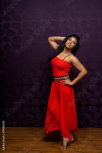 13b0d4e5cd Indian Woman Wearing Beautiful Flowing Sleeveless Dress - Buy this ...