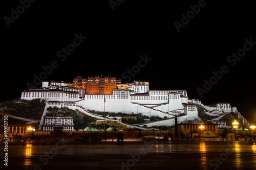 Fotografie, Obraz  The Potala Palace night view 布达拉宫夜景
