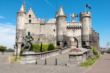 Stone Castle In Antwerp, Belgium