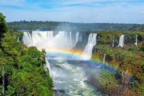 fototapeta na szkło Iguazu Falls in Foz do Iguacu, Brazil