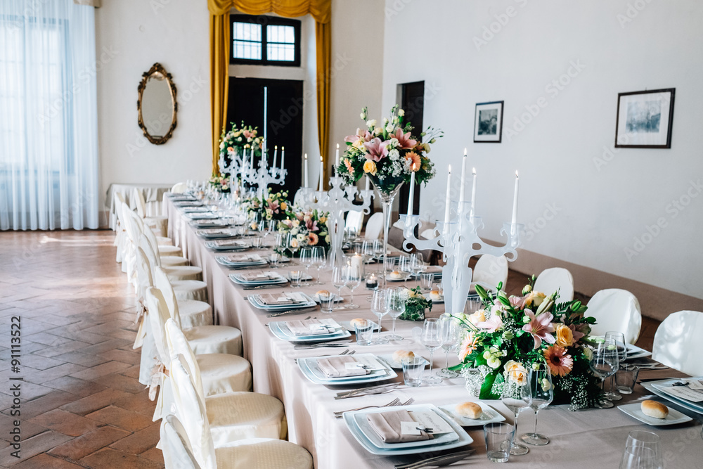 Fototapeta sala da pranzo lusso